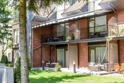 """Apartments in Palanga 50 meters to the sea – """"CORONA MARIS"""" - Terrace of the double apartments"""